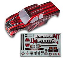 1:5 Redcat Rampage Monster RC Truck Red & Black Body Shell With Decals MT XT