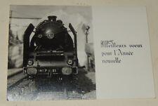 Ancienne CARTE de VOEUX  avec photo Locomotive SNCF 141 P 81