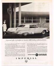1963 CHRYSLER Imperial LeBaron 4-door HT Vtg Print Ad