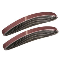 1 x 30 Inch Sanding Belt 80 Grit Sand Belts for Belt Sander 10pcs