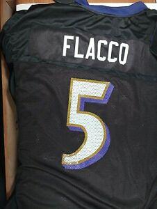 BALTIMORE RAVENS #5 JOE FLACCO REEBOK NFL JERSEY SHIRT MENS - XL