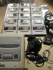 Original snes console With 15 Games Bundle, 2 Controllers & AV To HDMI adapter