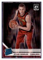 2019-20 Optic Purple Shock Holo Dylan Windler Cavaliers #197 Rated RC Prizm
