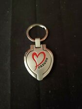 "Oregon Keychain Heart Shaped Picture Frame 1 1/16"" x 1 1/8"""