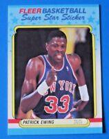 1988-89 FLEER STICKER PATRICK EWING BASKETBALL CARD #5 ~ NM/MT