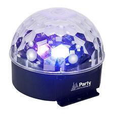 IBIZA LUCE Astro 6 rgbwav LED Luce MIRRORBALL EFFETTO Festa Da Discoteca DJ Illuminazione