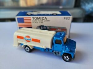 TOMICA F62 - FORD LORRY TRUCK GULF [BLUE] ABSOLUTELY MINT VHTF JAPAN