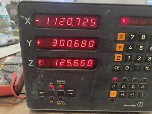Heidenhain-3-Achsen-Digitalanzeige-Typ-VRZ-754-Fraesmaschine-Drehmaschine