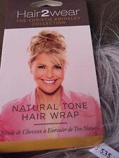 HAIR2WEAR Hair Piece Extension Christie Brinkley Natural Light Grey Hair Wrap