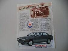 advertising Pubblicità 1985 MASERATI BIRUBO II