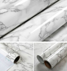 Sticker Mural PVC Auto-Adhésif Papier Peint En Marbre de Bureau Salon