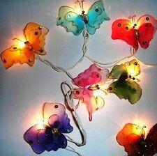 Butterfly Butterflies fairy lights, 20 string,  Rainbow UK SAFEY, UK BASED