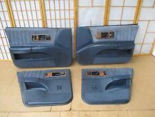 91-96 Caprice Impala Roadmaster BLUE CLOTH 4DR Interior Power Door Panel SET