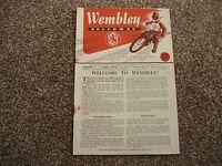 * WEMBLEY v HARRINGAY 7/5/53 speedway programme