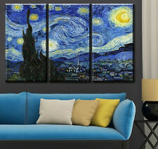 Modern Abstract Oil Painting Wall Decor Art Huge - Retro landscape 3pcs poster