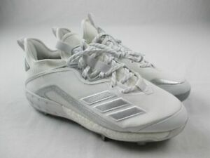adidas Icon VI Cleats Men's White/Silver NEW 12