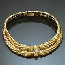 TIFFANY & CO. Paloma Picasso Tubogas Diamond Double-Row Yellow Gold Necklace