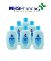 6 x Johnsons Baby Bath Liquid 200ml Everyday Gentle Cleansing