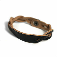 Men's / Ladies Leather Twist Bracelet Twisted Wristband LTB