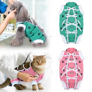 Pet Cat Dog Surgery Clothes Medical Surgical Suit Wound Recovery Vest Coat XS-L