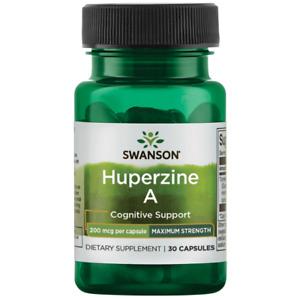Swanson Maximum-Strength Huperzine a 200 Mcg 30 Capsules.