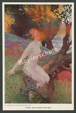 Artur Johnson sonnenkuß donna dai capelli rossi atto erotico Nouveau lebensrefom 1903