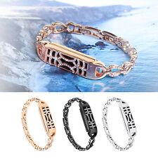 For Fitbit Flex 2 Band Replacement Diamond Bracelet Wrist Strap + Metal Cover