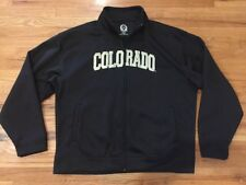 Colorado Black Full Zip Track Jacket Sweatshirt Coat Jacket Mens 2XL XXL