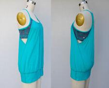 LULULEMON Turquoise Blue Tropics Striped Bra NO LIMITS Tank Top Yoga Sports 6