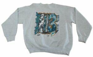 Vintage 1991 Dan Marino #13 Miami Dolphins Sweatshirt Size M - L