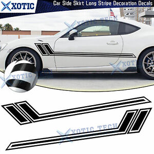 JDM Gloss Black Side Body Fender Sporty Racing Graphics Sticker For Scion tc FRS