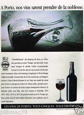 Publicité advertising 1989 Apéritif Vin Porto