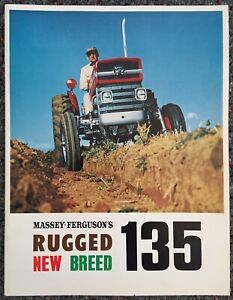 Original 1965 Massey Ferguson 135 Tractor Sales Brochure