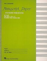 Standard Wirebound Manuscript Paper (Green Cover) by Hal Leonard Publishing Corp