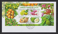 Cocos (Keeling) Islands 2017 : Garden Fruits of Cocos, FDC with Mini-sheet