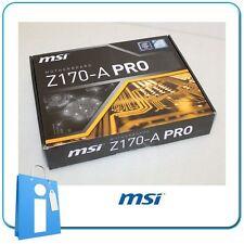 Placa base ATX Z170 MSI Z170-A PRO Socket 1151 con Accesorios