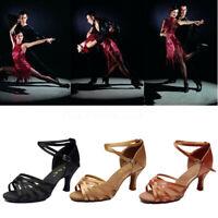 Women Waltz Latin Tango Heeled Salsa Sandals Ballroom Prom Party Dancing