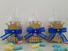 Baby Shower 12 Prince Favor Fillable Bottles Prizes Games Boy Blue Decorations
