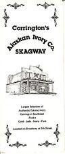 Corrington's Alaskan Ivory Co Skagway Alaska Eskimo Store Vintage Brochure