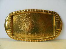 More details for vintage hammered brass tray