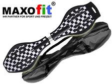 Waveboard MAXOfit XL Black and White bis 95 kg mit Tasche und Leuchtrollen