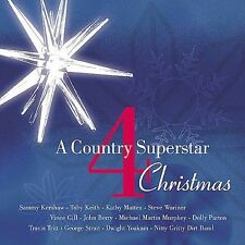 A COUNTRY SUPERSTAR CHRISTMAS 4 CD VINCE GILL, DOLLY PARTON, DIRT BAND