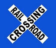 RAILROAD CROSSING METAL SIGN / Crossbuck Wall Decorations / Father's Day Gifts
