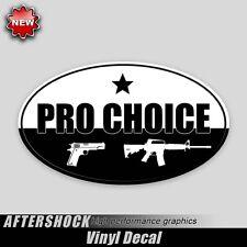 Pro Choice gun sticker - pistol rifle guns decal handgun ar-15