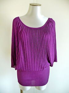 CHACOK PULL MALAGA VIOLET CASSIS T M ( 38 - 40 ) SANDERS NEUF