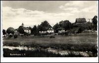Rautenkranz Vogtland DDR Postkarte ~1957 Teilansicht mit Bachlauf ungelaufen