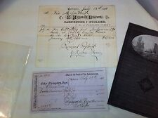 Baltimore fire Department Engine House # 2  1800s Receipt  and check for repairs