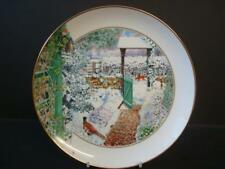 FRANKLIN PORCELAIN THE GARDEN YEAR COLLECTION JANUARY PLATE