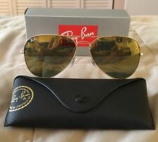 RayBan Ray-Ban Aviator Gold Frame Gold Lens Sunglasses RB3025 W3276 58MM NE