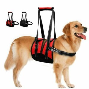 Reflective Dog Harness Adjustable Injured Pet Lifting Support Vest With Handle